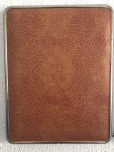 Miroir triptyque barbier fauve vintage 1960 - 27 x 67 cm