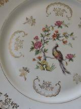 Plat de service, porcelaine, vintage