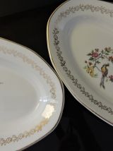 Lot deux raviers Ouchy, porcelaine Digoin & Sarreguemines