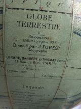 Globe terrestre Forest verre vintage 1950 - 27 cm