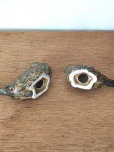 Couple d'oiseaux en céramique
