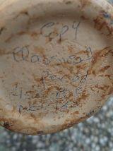 vase grec numeroté , reproduction fait  main
