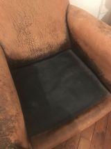 Fauteuil Club en cuir, vintage