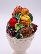 Miniature Majolica Topiari vintage Ht 12.5cm