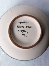 """Boite en terre cuite vintage """"Moses"""" Cyprus N°1."""
