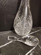 carafe cristal avec jante cylindrique en argent 800