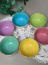 Tasses Digoin multicolores
