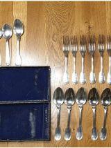 Couverts métal argenté dans leur écrin d'origine