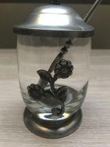Pot à confiture verre & étain