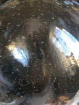 Paire de flotteurs de pêche, verre épais bullé