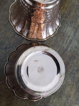 Duo cache pots en cuivre vintage