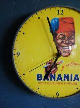 "Horloge vintage, pendule murale ""Banania"""