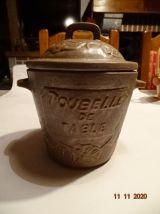 Poubelle de table pot avec couvercle