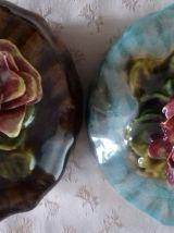 2 bonbonnières en porcelaine