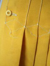 Mini jupe plissée jaune moutarde Mod GoGo vintage 70's