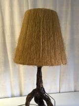 Lampe à poser – cep de vigne et sisal – années 60
