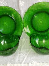 Set petit déjeûner vintage Vereco vert