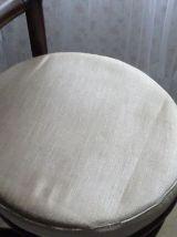 4 Chaises en rotin et assise en velours