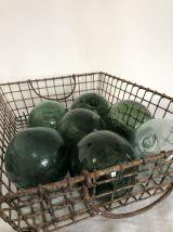 Paire de flotteurs de pêche, boules vertes