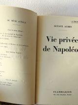 Vie privée de Napoléon. Octave Aubry. 1939. Belle reliure.