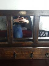 Vestiaire-Porte manteau bois miroir