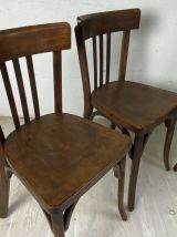 Ensemble de 4 chaises bistrot vintage 50's