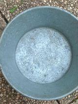 bassine  en  zinc  ALG  vintage