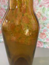 Bouteille verre ambré