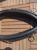 Collier de cheval ancien cuir et laiton