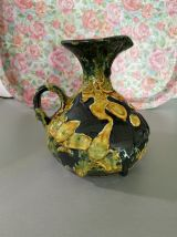 Vase émaux de miel ancien