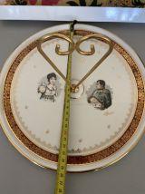 Plateau porcelaine de luxe Napoleon et Joséphine
