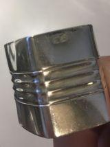 3 ronds de serviette métal argenté