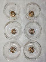 Service de 6 verres vintages