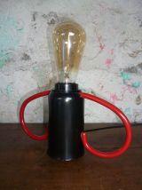 Lampe - Noire & Rouge - Bouchon bonbonne gaz