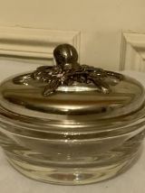 Pot à pot pourri, crystal et métal arbenté