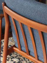 Paire de fauteuils vintage scandinave en teck