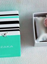 Montre Luzaka Kyo rose poudre, neuve.