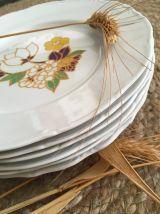 Lot assiettes vintage plates et creuses.