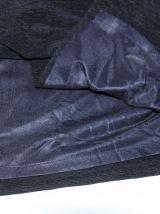 Robe longue fourreau fendu. Tissu crèpe noir. Taille 36.