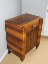 Table de chevet / Table d'appoint vintage en noyer, Art Deco