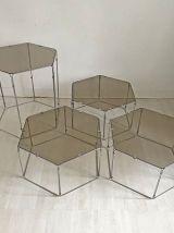 Ensemble de 4 tables d'appoints Hexagonales design Max Sauze