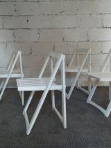 Lot de 4 chaises Aldo Jacober pliantes années 70 vintage