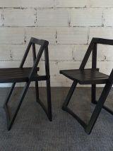 Lot de 2 chaises pliantes Aldo Jacober vintage années