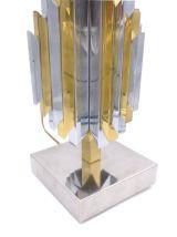 PAIRE DE LAMPES SCULPTURES EN CACTUS LAITON ET CHROME 1970