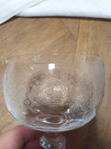 Carafe et verres en cristal gravé