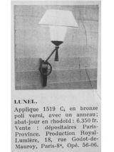 PAIRE D'APPLIQUES LUNEL 1950