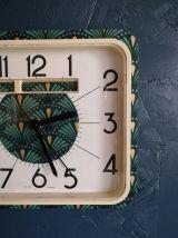 """Horloge vintage, pendule murale """"Verte Dorée"""""""