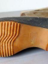 Bottes fourrées vintage en peau de phoque