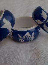 ronds de serviettes de table en porcelaine