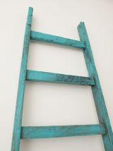Échelle de grange peintre bleue vintage 230 cm